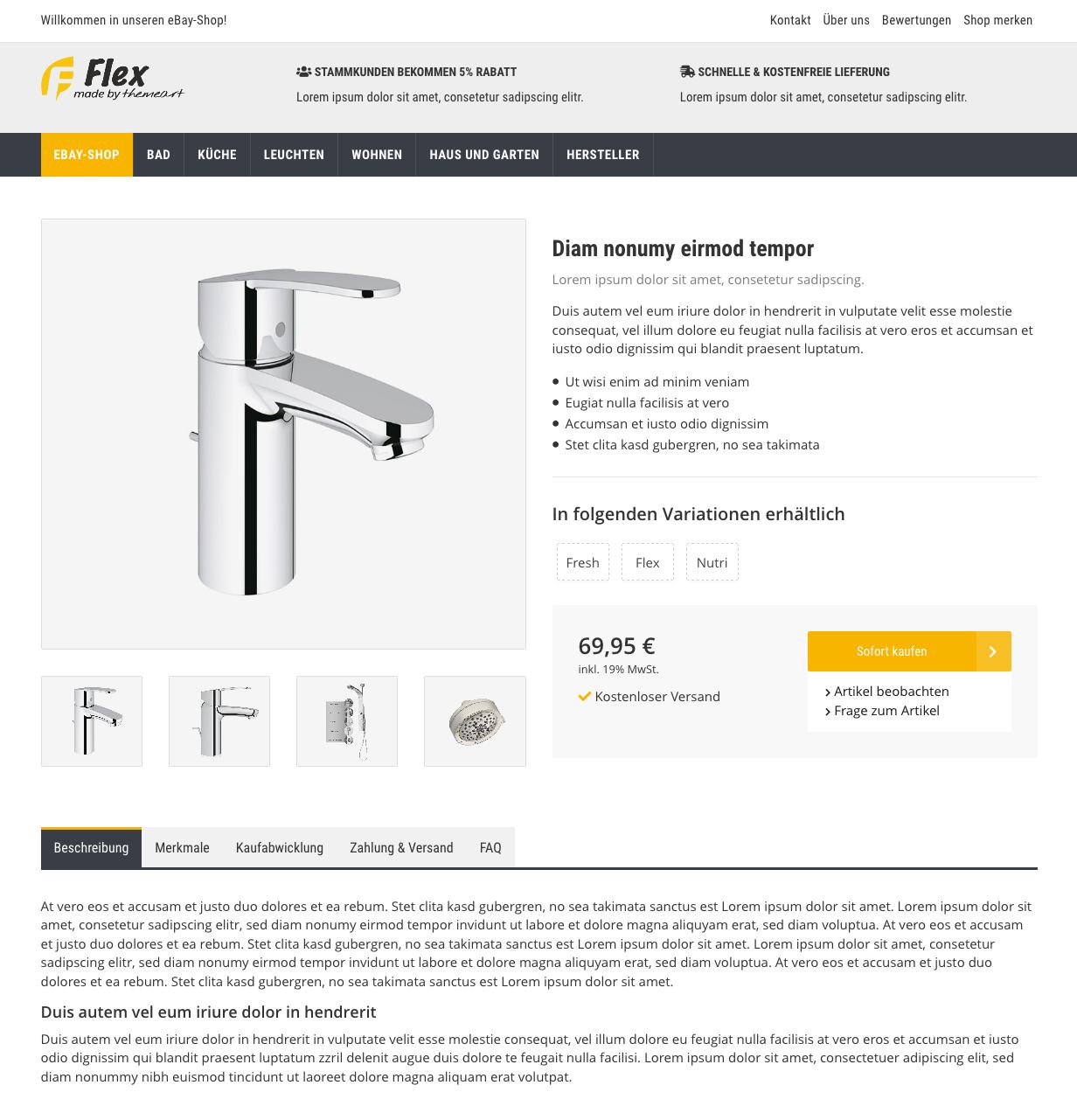 Flex - eBay-EazyAuction Vorlage für JTL-Wawi