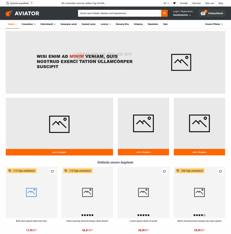 Aviator - JTL-Shop 5 Template