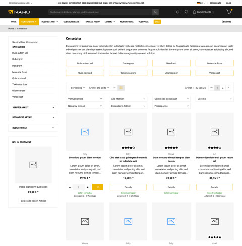 Namu - JTL-Shop 5 Template